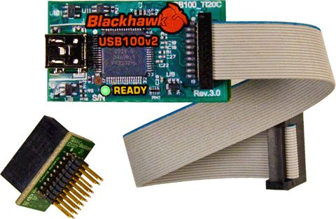 Blackhawk USB100 V2D low-cost Emulator for Texas Instruments