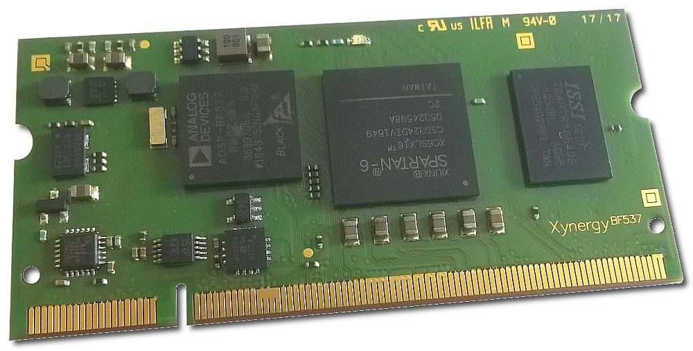 SO-DIMM Module with Blackfin ADSP-BF537 Spartan-6 FPGA and DDR3